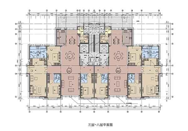 住宅户型图-现代风格高层住宅区规划及单体建筑设计方案文本 含商业