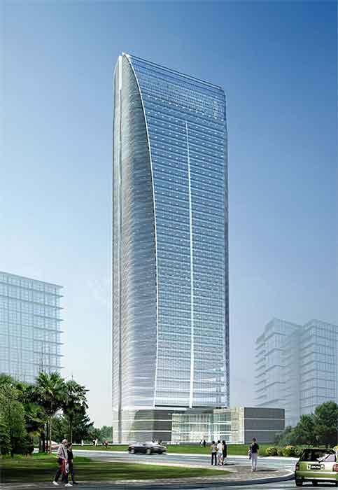 高层办公楼建筑设计 现代高层办公楼 高层办公楼标准层设计 高层办公
