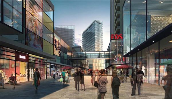 【山东】大型方案特色综合体建筑设计图纸初商业工整改按设施要求没有施工,图片