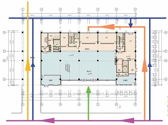 【陕西】七层框剪办公区规划及单体设计方案文本图
