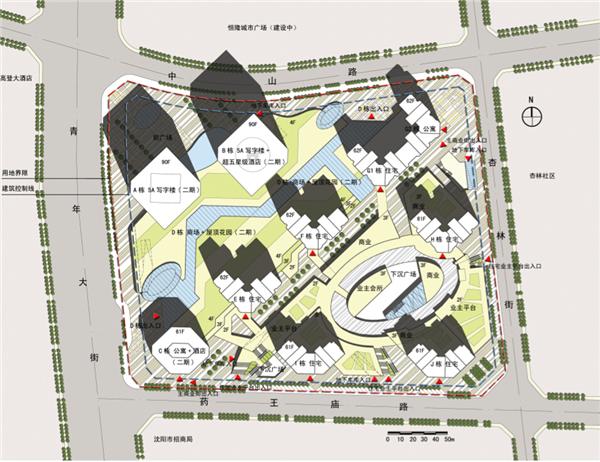 【辽宁】高级大型v图纸商业区规划设计图纸方案安225文本航模图片