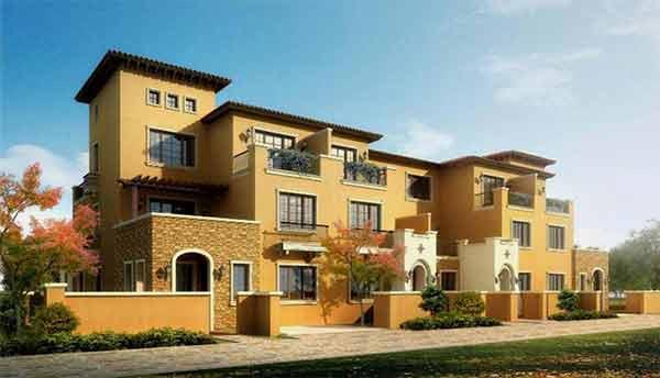 建筑效果图-现代风格高层住宅区规划及单体建筑设计方案文本高清图片