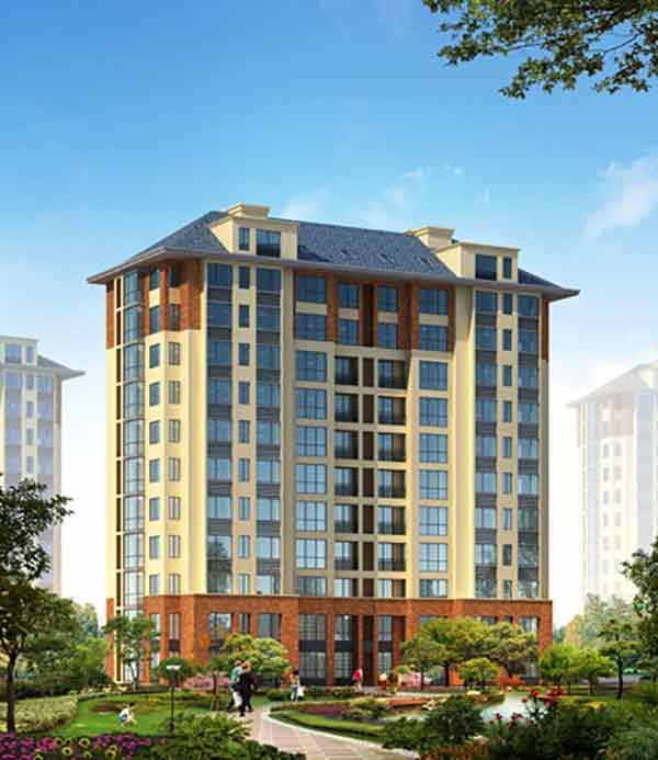 住宅楼效果图-现代风格高层住宅区规划及单体建筑设计方案文本 含高清图片