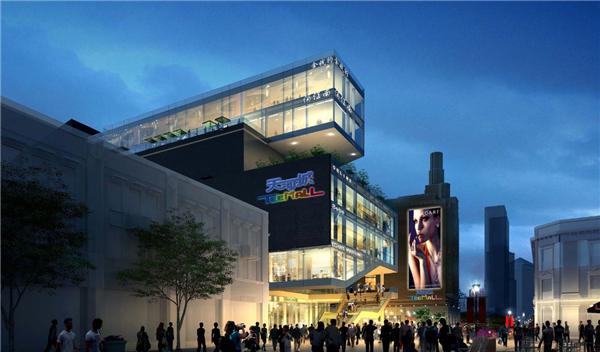 建筑设计:作为通向城市的大门,零售项目的入口体验设计是非常重要的.