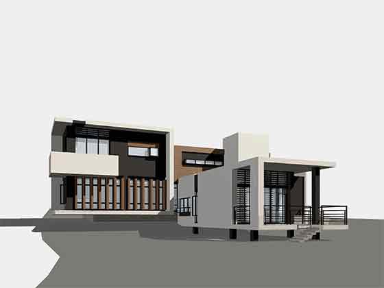 三维效果图 相关专题:山地别墅建筑结构