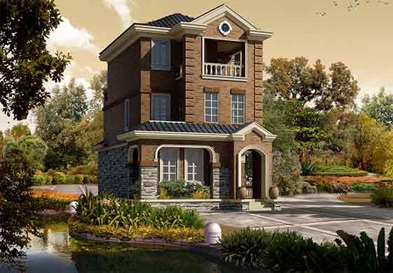 【成都】二层框架结构独栋别墅筑施工图(含效果图)