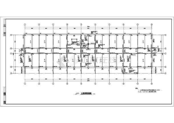 某5层钢筋砼框架办公楼结构设计施工图