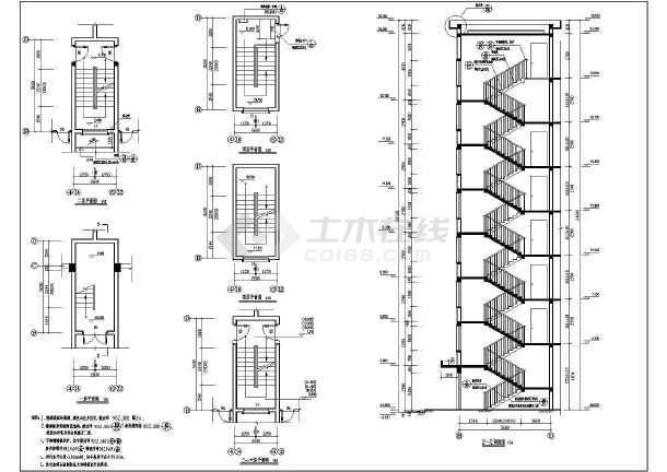 【广西】七层底框砖混结构住宅楼建筑设计施工图