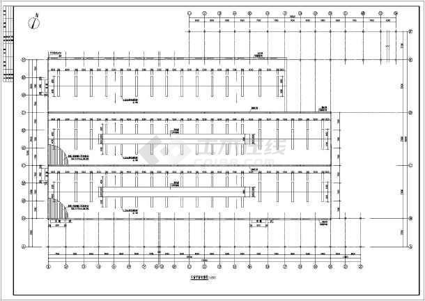 德庆某排架结构钢桁架屋面厂房结构施工图