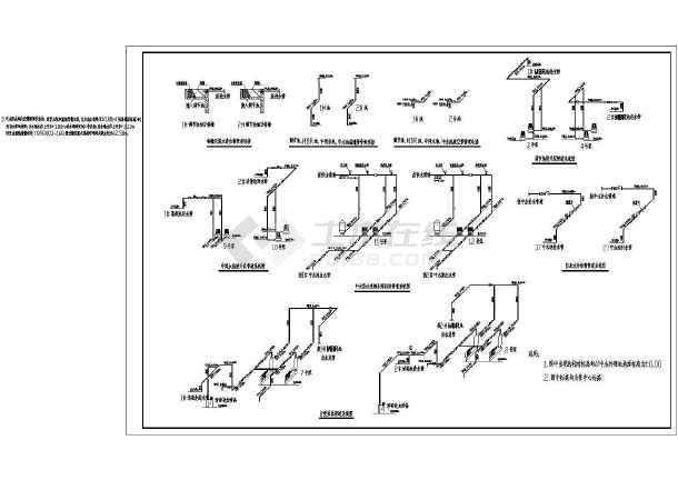 图纸包括:中水处理设计说明,中水处理机房工艺平面图,预留,预埋空洞图