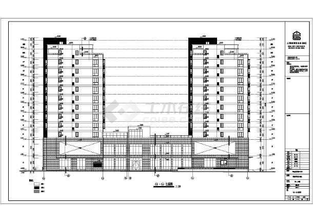 淮南11 1层框支剪力墙结构商住楼建筑施工图(带地下室