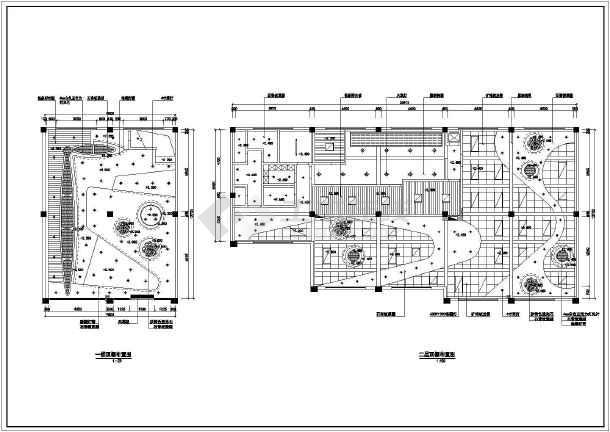 无锡两层框架结构中餐厅室内装修设计施工图