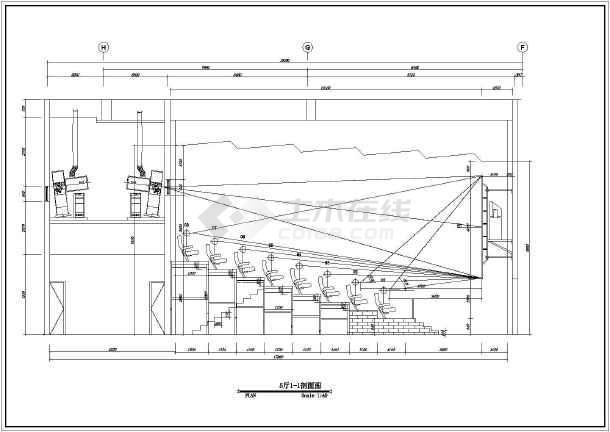 某地框架结构电影院影厅室内装修设计施工图