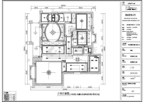 家装设计 两室一厅装修图 某三室两厅室内装修及电气设计施工图  简介