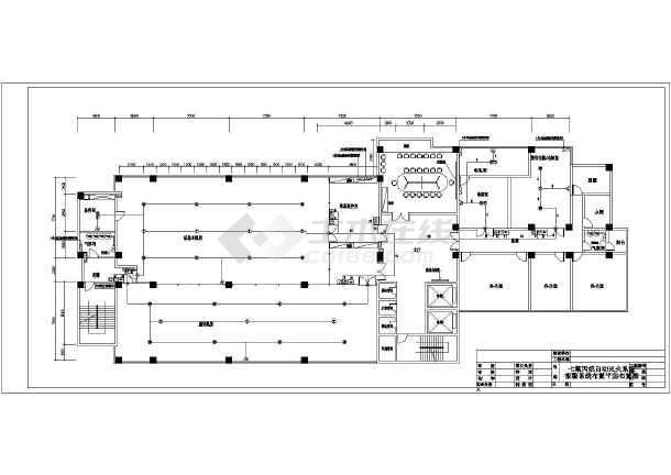 信息机房七氟丙烷自动灭火系统施工图设计