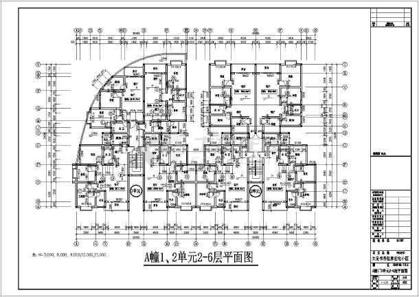 某地大足书香世家小区建筑方案设计图纸