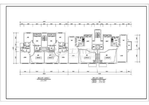各种板式小高层住宅户型平面图合集