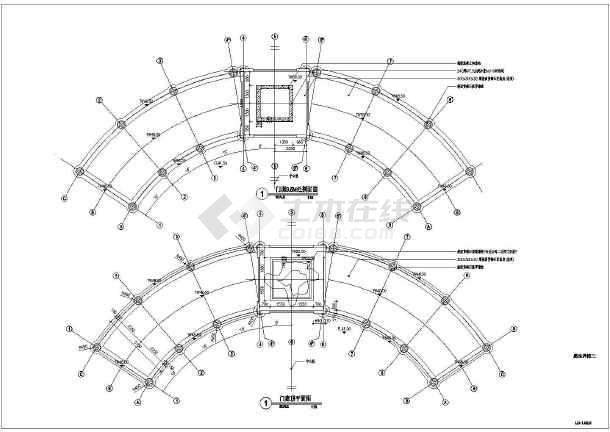 图纸 园林设计图  小品及配套设施(小区cad平面图下载)  亭子与廊设计