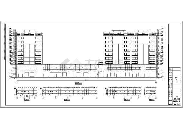 某住宅小区9层住宅楼建筑方案设计图_cad图纸好书推荐创意海报设计图片