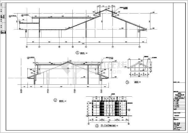 某地2层框架结构海景房建筑设计施工图图纸