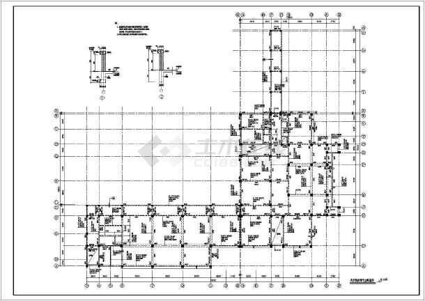 某地图纸芯肋梁结构蜂巢图纸施工图_cad楼盖框架wa加药装置图片