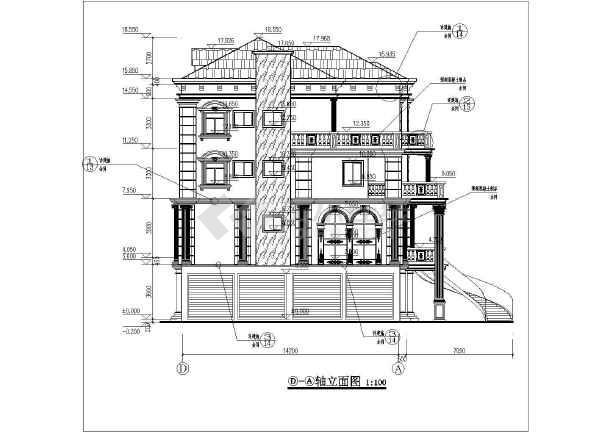 某地区四层欧式住宅楼建筑设计方案