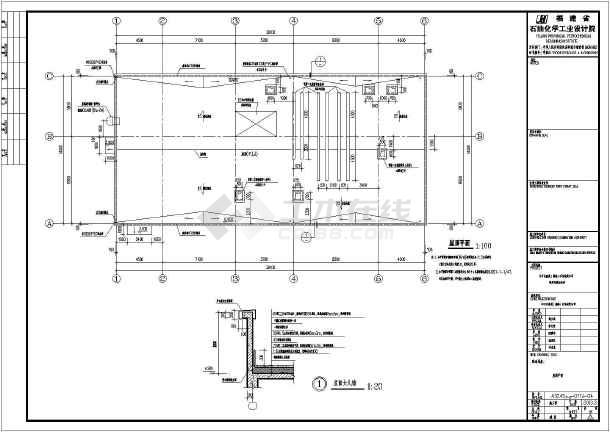 某市2层加油站及钢构罩棚结构设计图