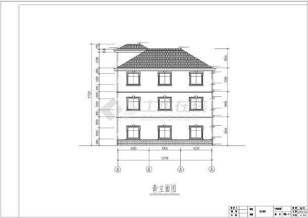 某地三层框架结构农村自建房建筑施工图