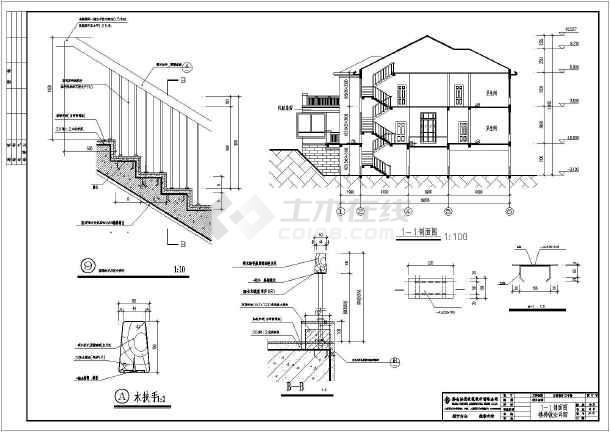 欧式别墅建筑设计,图纸内容包含:各层平面图