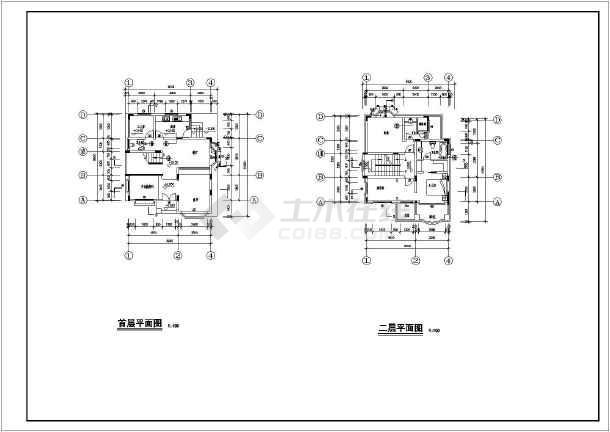 某别墅建筑结构设计施工图纸(包含建筑和结构)-图1