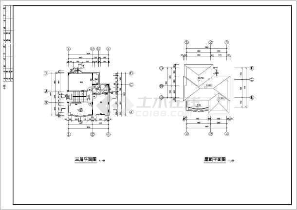 某别墅建筑结构设计施工图纸(包含建筑和结构)-图2