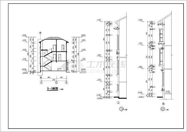 某别墅建筑结构设计施工图纸(包含建筑和结构)-图3