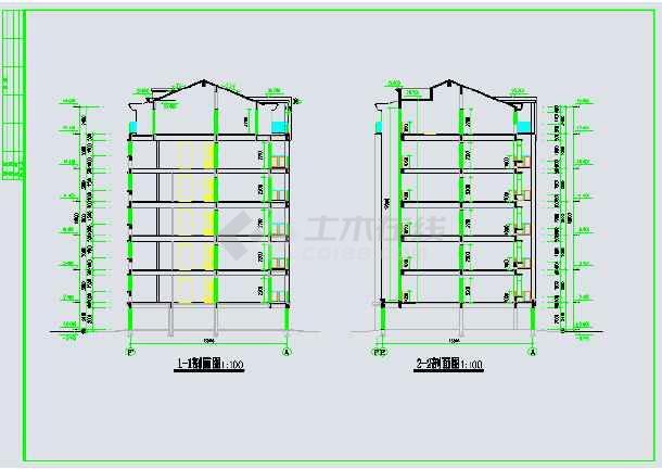某地单元式六层住宅楼建筑设计施工图