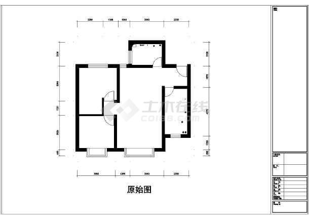 两室一厅装修设计平面图图片