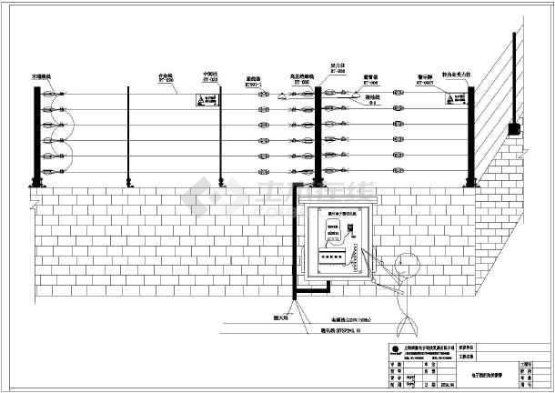电子系统围栏安装示意图_cad图纸下载三层办公楼cad免费下载施工图图片