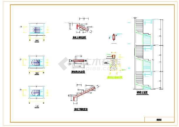 某住宅180度的旋转楼梯结构设计图
