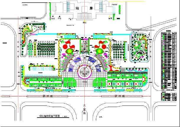 规划图   城市规划   共1张立即查看 某地车站广场景观设计绿化平面
