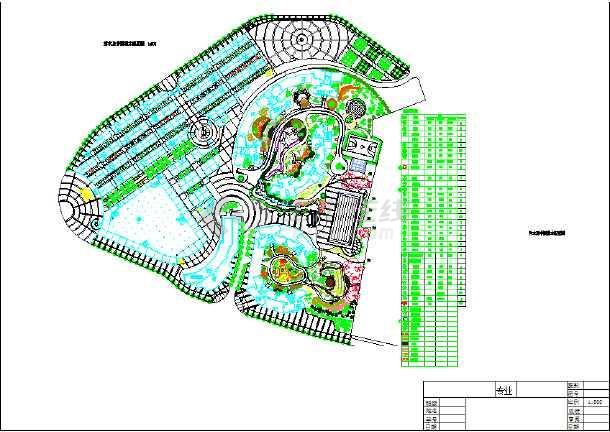 南方某地休闲娱乐广场规划设计图纸图片1