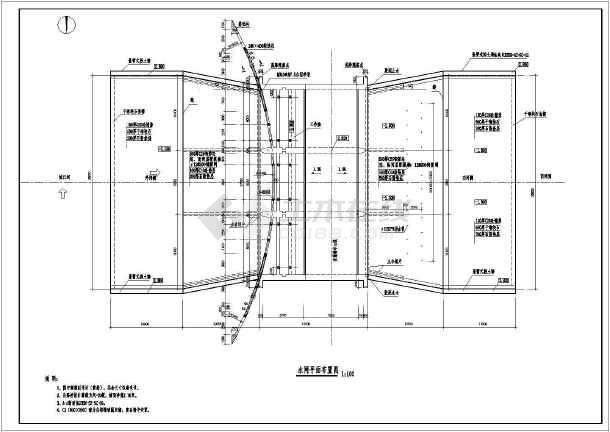 某水利工程节制闸结构布置及钢筋图
