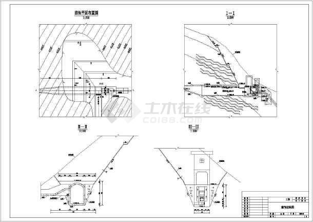 图纸包含::前池及压力钢管平面及纵剖面图 镇墩,支墩 前池结构图.
