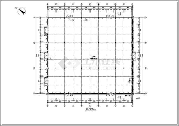 某地单层钢砼排架结构厂房结构施工图
