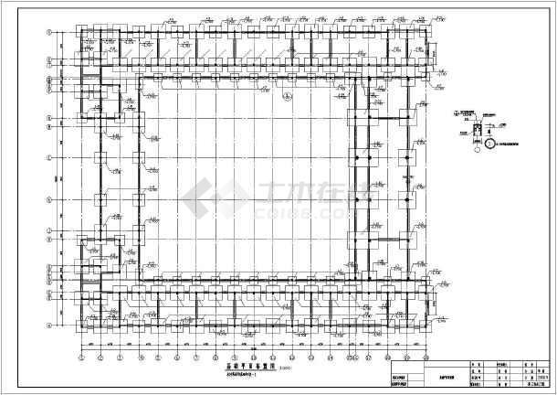 框架教学楼小学教学楼全套结构施工图