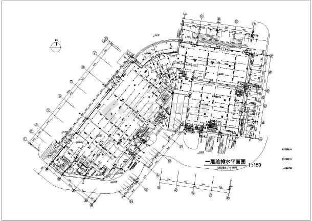 某四层商场带地下室建筑给排水施工图
