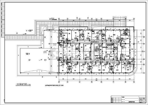 图纸 暖通设计图 中央空调 酒店宾馆空调设计图 武汉某五层酒店全套中