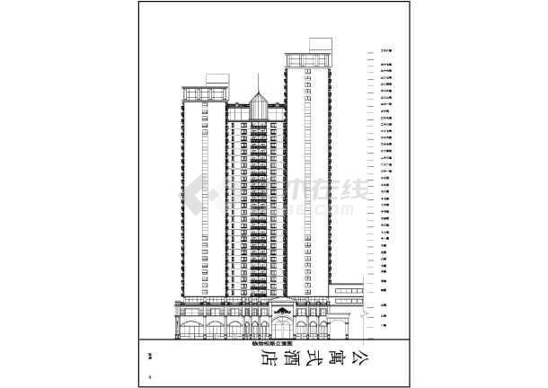某地高层酒店式公寓建筑方案设计图