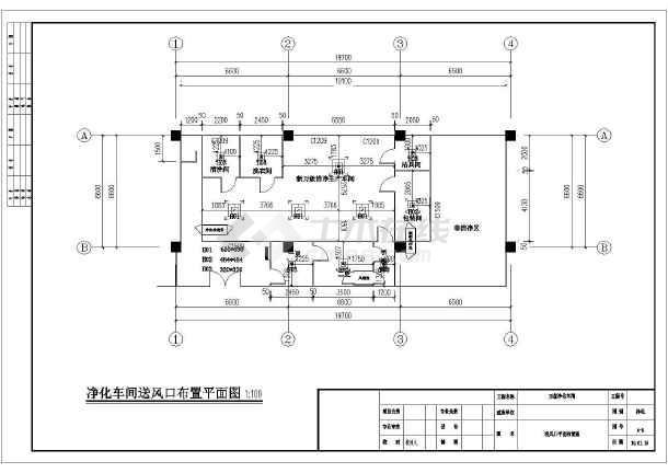 某洁净医疗器械车间洁净空调设计图纸