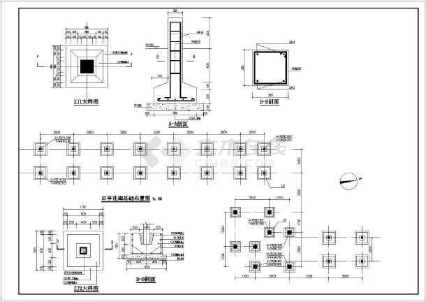 某地木结构双亭连廊组合建筑小品施工详图