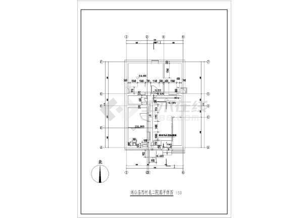 图纸 建筑图纸  古建筑设计  仿古建筑  刘公岛西村单层砖混结构院落图片