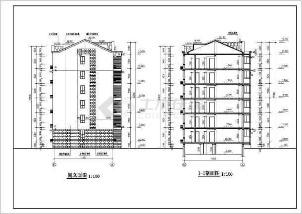某地六层砖混结构住宅楼建筑设计施工图_cadcad安装好了图标没有图片
