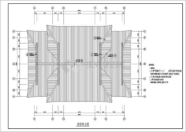 图纸 建筑图纸 古建筑设计 仿古建筑 某地单层框架结构组合歇山建筑方